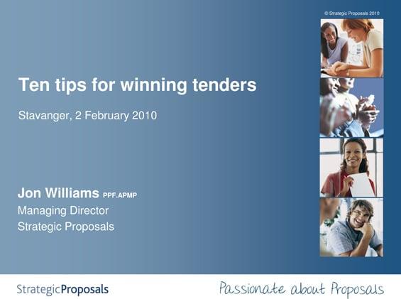 Strategic-Proposals Ten Tips for Winning Tenders | @XaitPorter