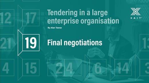 Final negotiations