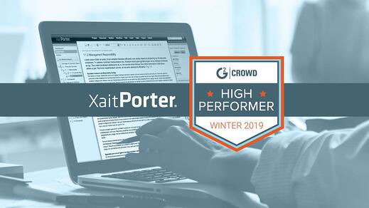 XaitPorter top-rated as high performer Proposal Software on G2 Crowd