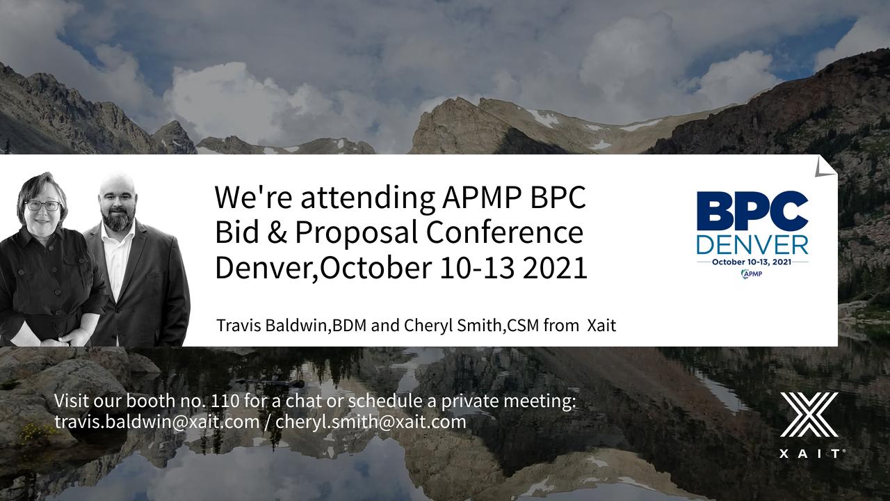Meet Xait at APMP Bid & Proposal Conference 2021