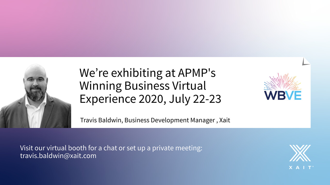 Meet Xait at APMP's Winning Business Virtual Experience 2020