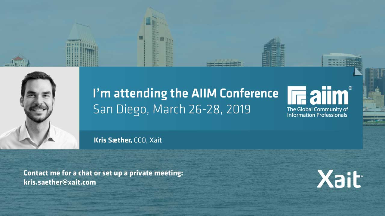 Meet Xait at the AIIM Conference in San Diego