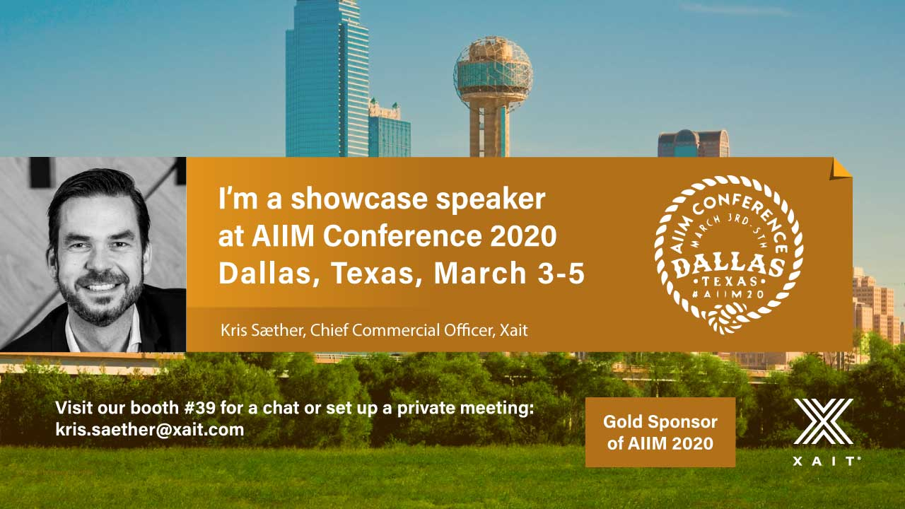 Meet Xait at the AIIM Conference in Dallas