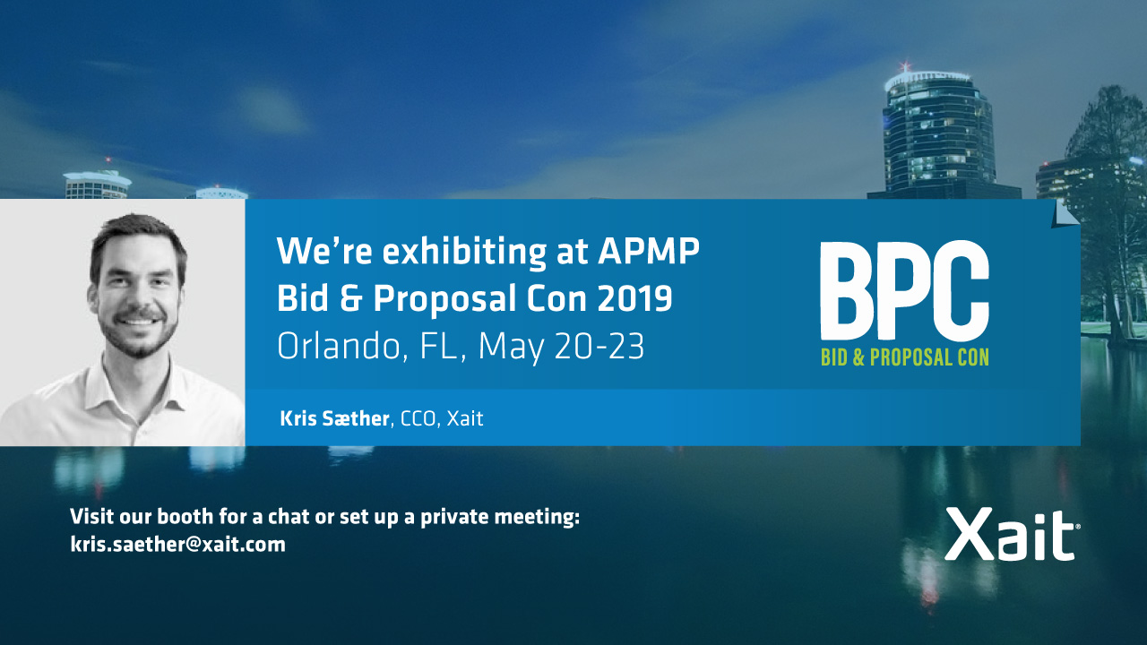 We are exhibiting at APMP Bid & Proposal Con in Orlando