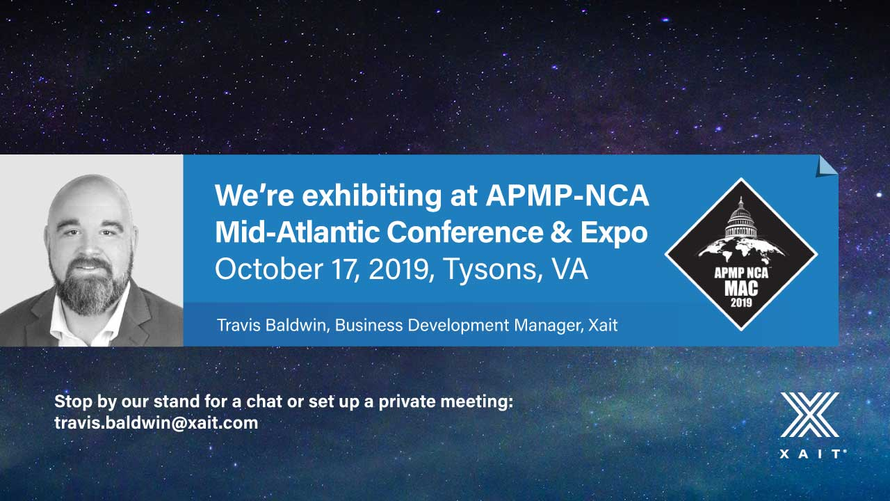 Meet Xait at APMP-NCA Mid-Atlantic Conference & Expo 2019