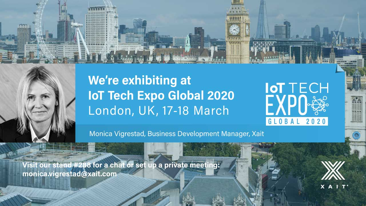 Meet Xait at IoT Tech Expo Global 2020 in London