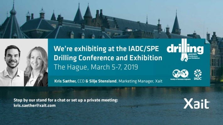Meet Xait at SPE/IADC International Drilling Conference and Exhibition